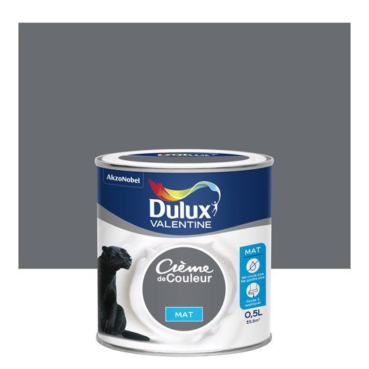Peinture Gris Anthracite Mat Dulux Valentine Crème De Couleur 0.5