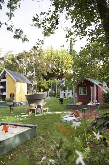 Un jardin aménagé pour enfants