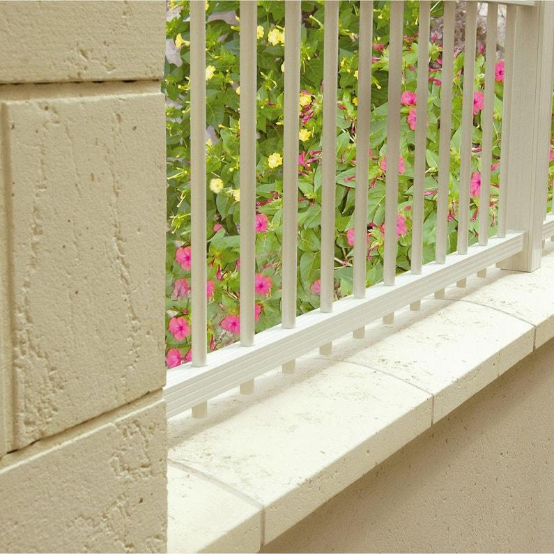 Couvre Mur 2 Pans Lisse Blanc H6 X L28 X P49 Cm