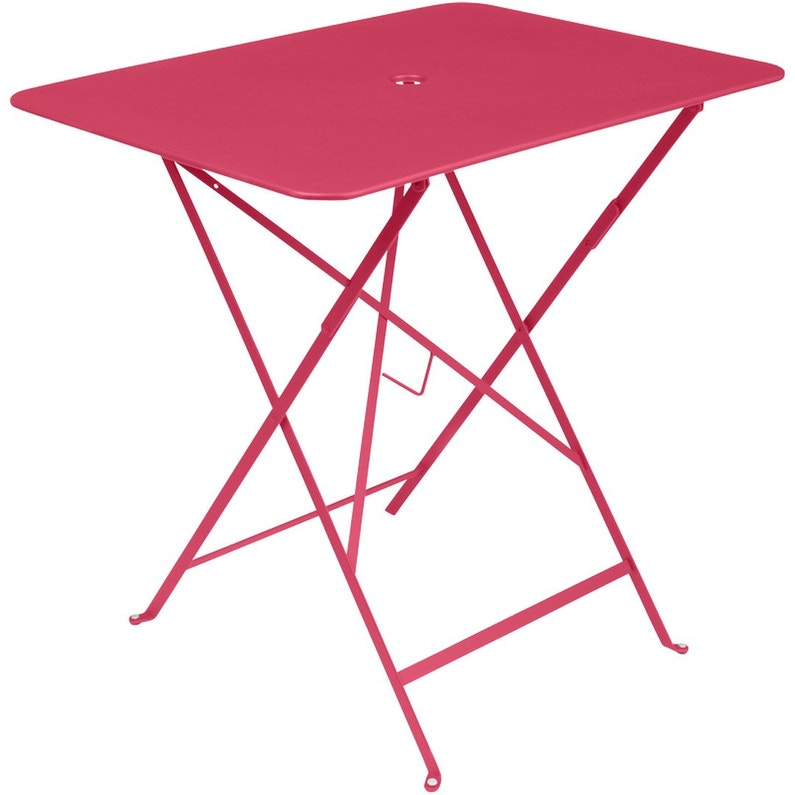 Table de jardin de repas FERMOB Bistro rectangulaire rose praline 4  personnes