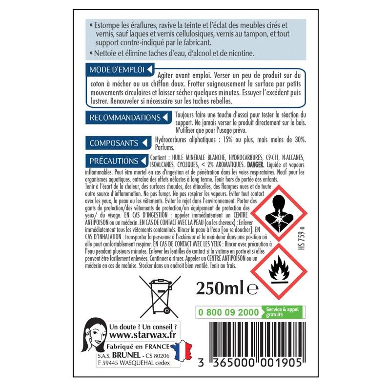 Raviveur Meuble En Bois Starwax Bois Foncé Liquide 200 Ml