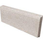Bordure droite Avec emboîtement béton ton pierre, H.20 x L.50 cm