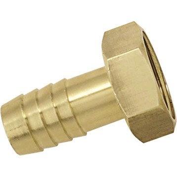 Embout en laiton BOUTTE cannelé cylindrique Diam.19 mm femelle Diam.20 x 27 mm