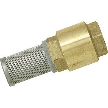 Clapet anti-filtre en laiton BOUTTE femelle Diam.20 x 27 mm
