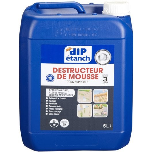 Traitement antimousse dip incolore 5 l leroy merlin - Anti mousse toiture leroy merlin ...