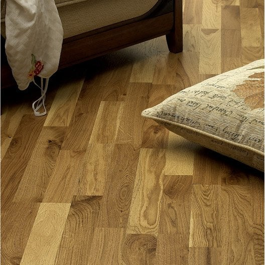 parquet contrecoll ch ne blond vitrifi s decoclic leroy merlin. Black Bedroom Furniture Sets. Home Design Ideas