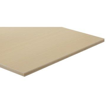 Panneau fibre composite teinté masse naturel, Ep.15 mm x L.250 x l.122 cm