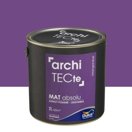 Peinture violet mangan se dulux valentine architecte 2 l - Peinture dulux architecte ...