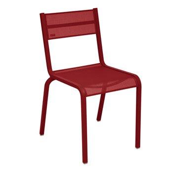 Chaise de jardin en aluminium ol ron couleur piment fermob - Chaise de jardin nice ...