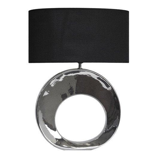 lampe e27 galia seynave tissu noir 40 w leroy merlin. Black Bedroom Furniture Sets. Home Design Ideas