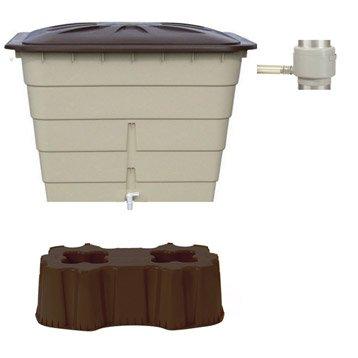 Récupérateur d'eau et collecteur aérien GARANTIA rectangulaire sahara , 520 l