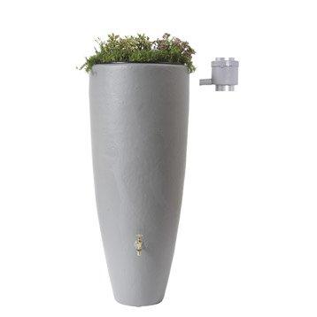 Récupérateur d'eau aérien GARANTIA cylindrique gris , 300 l