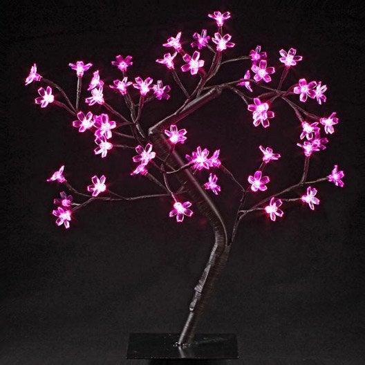 Objet lumineux arbre prunus rose jja 3 w leroy merlin - Arbre lumineux leroy merlin ...