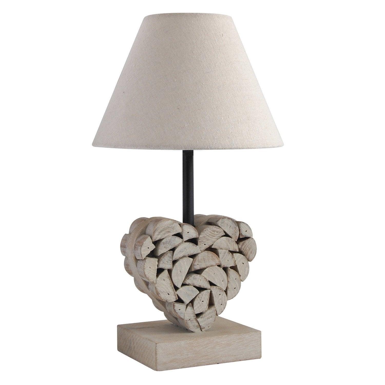 Lampe, e27 Carlita SEYNAVE, coton naturel, 40 W