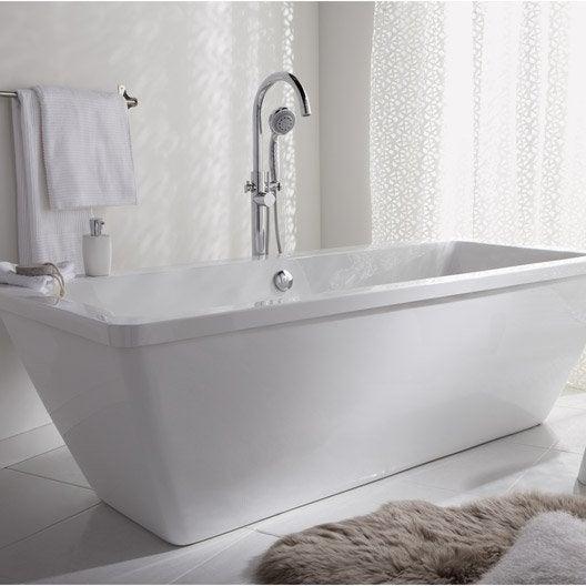 baignoire lot rectangulaire cm blanc tokyo leroy merlin. Black Bedroom Furniture Sets. Home Design Ideas