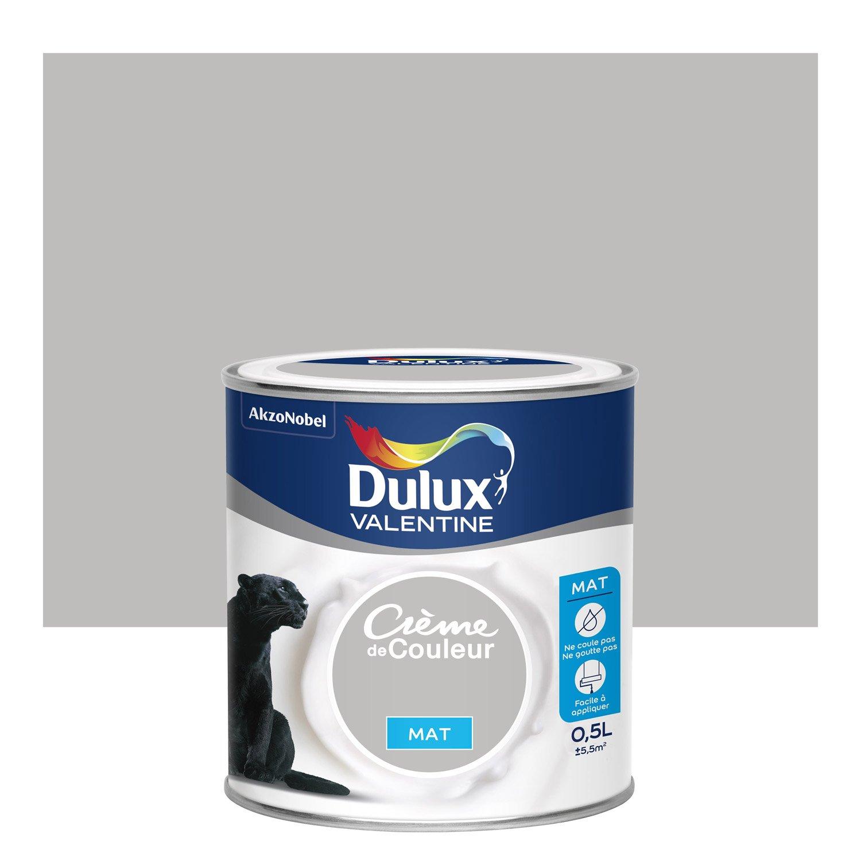 peinture b ton gris mat dulux valentine cr me de couleur 0 5 l leroy merlin. Black Bedroom Furniture Sets. Home Design Ideas
