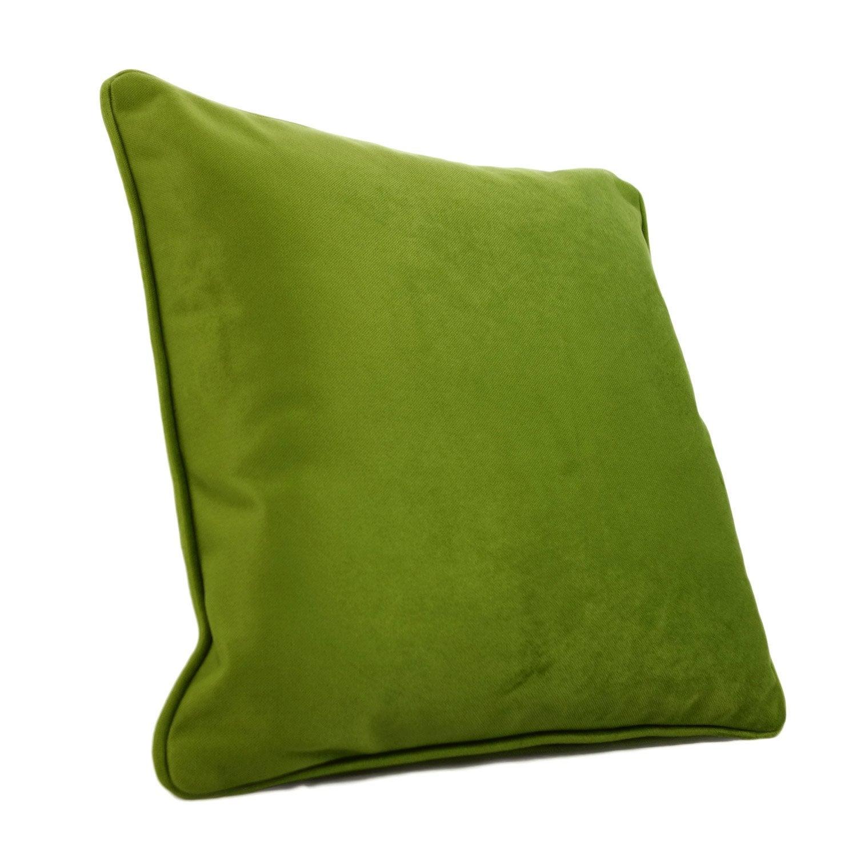 Coussin Bristol, vert l.45 x H.45 cm