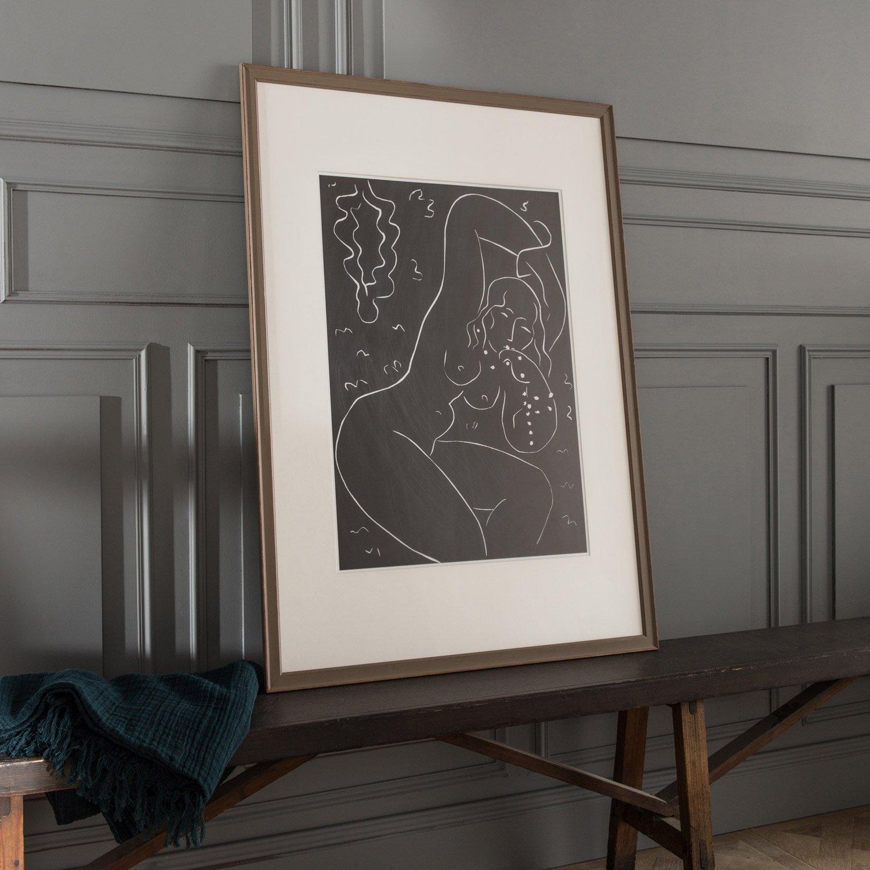 cadre vienne 50 x 70 cm brun taupe n 3 leroy merlin. Black Bedroom Furniture Sets. Home Design Ideas