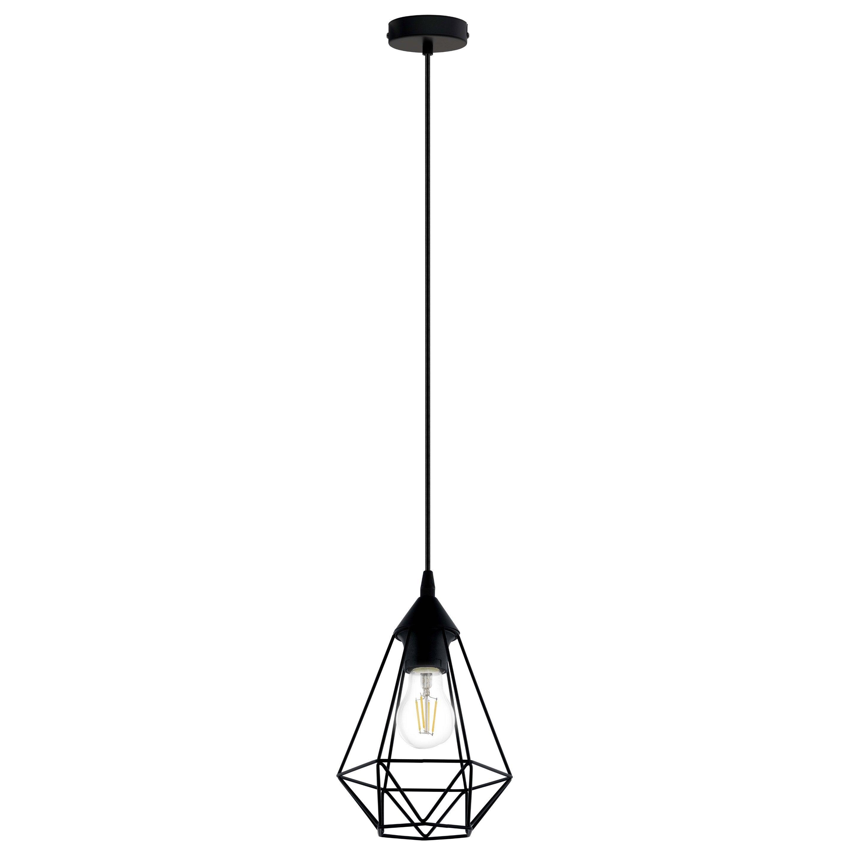 Suspension, e27 style industriel Byron D17.5 métal noir 1 x 60 W INSPIRE