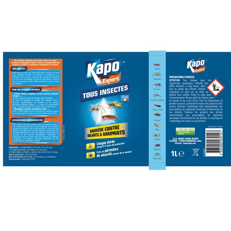 Pulvérisateur Insecticide Pour Tous Insectes Kapo 1 L