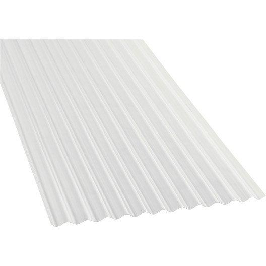 Plaque polycarbonate petites ondes translucide 3 x sunclear leroy m - Plaques polycarbonate leroy merlin ...