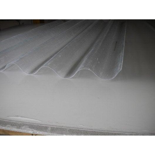 plaque polyester grandes ondes translucide 3 x m leroy merlin. Black Bedroom Furniture Sets. Home Design Ideas