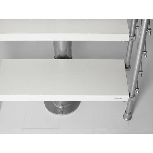 Hauteur pour escalier long line chrom bois blanc larg for Escalier 80 cm largeur
