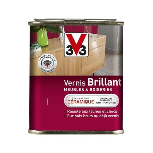 Vernis meuble et objets v33 l incolore leroy merlin - Vernis relooking v33 ...