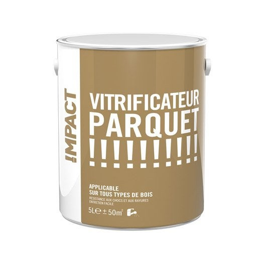vitrificateur parquet impact ch ne clair satin 5l leroy merlin. Black Bedroom Furniture Sets. Home Design Ideas