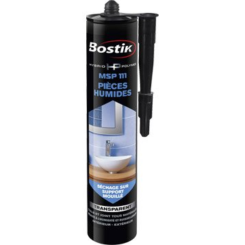 Colle mastic cuisine et bain, BOSTIK Hybrid polymer msp 111 transparent, 290ml