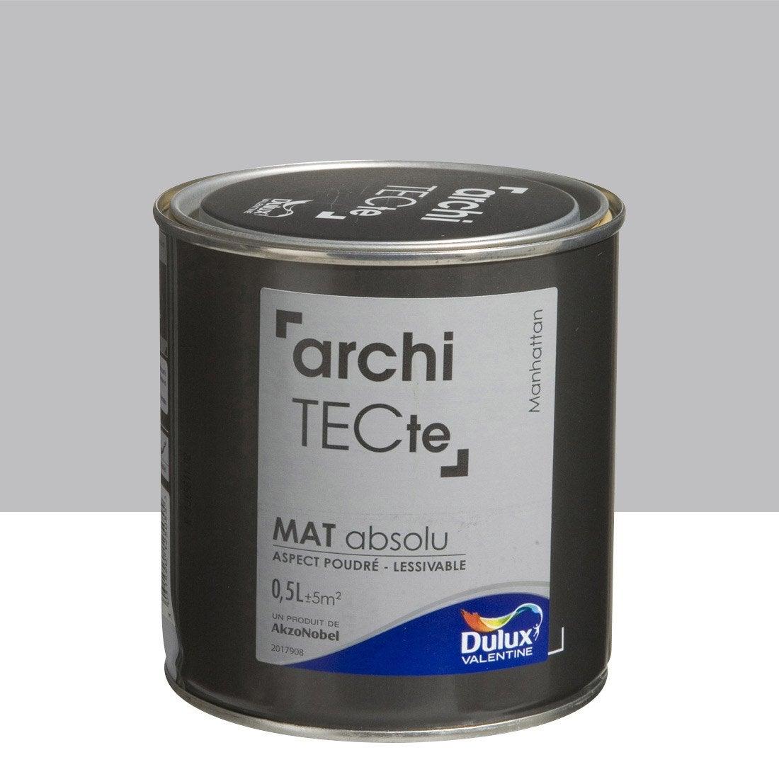 Peinture gris manhattan dulux valentine architecte 0 5 l - Peinture dulux valentine avis ...