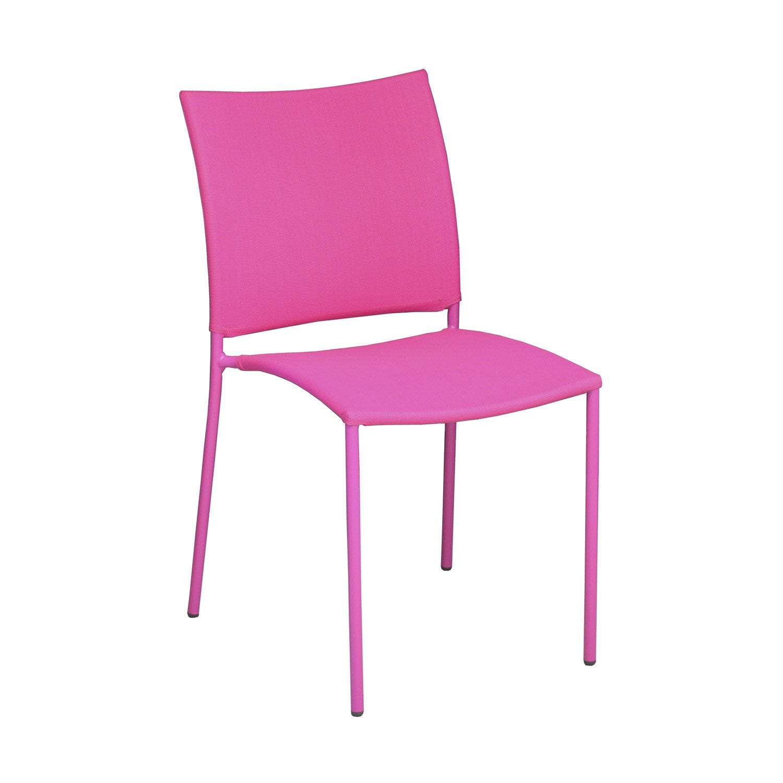 Chaise de jardin en acier globe framboise leroy merlin - Mousse pour chaise leroy merlin ...