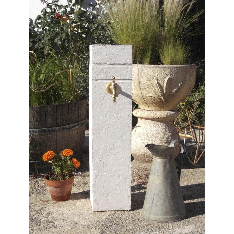 fontaine de jardin en pierre reconstitu e ton pierre borne leroy merlin. Black Bedroom Furniture Sets. Home Design Ideas