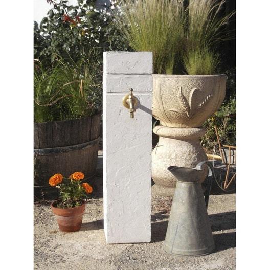 Fontaine de jardin en pierre reconstitu e ton pierre borne - Fontaine de jardin en pierre reconstituee ...