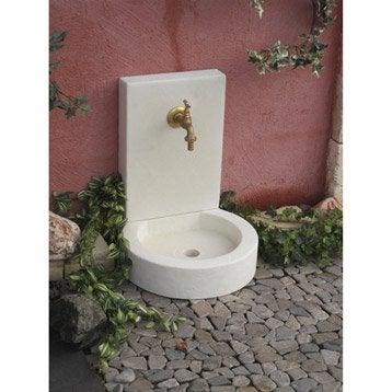 Fontaine de jardin en pierre reconstituée ton pierre Victoria