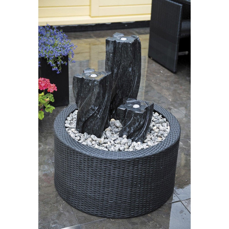 Contour de fontaine de jardin en plastique noir victoria - Fontaine exterieure de jardin moderne ...