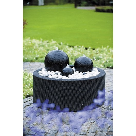 fontaine contour en plastique noir victoria leroy merlin. Black Bedroom Furniture Sets. Home Design Ideas