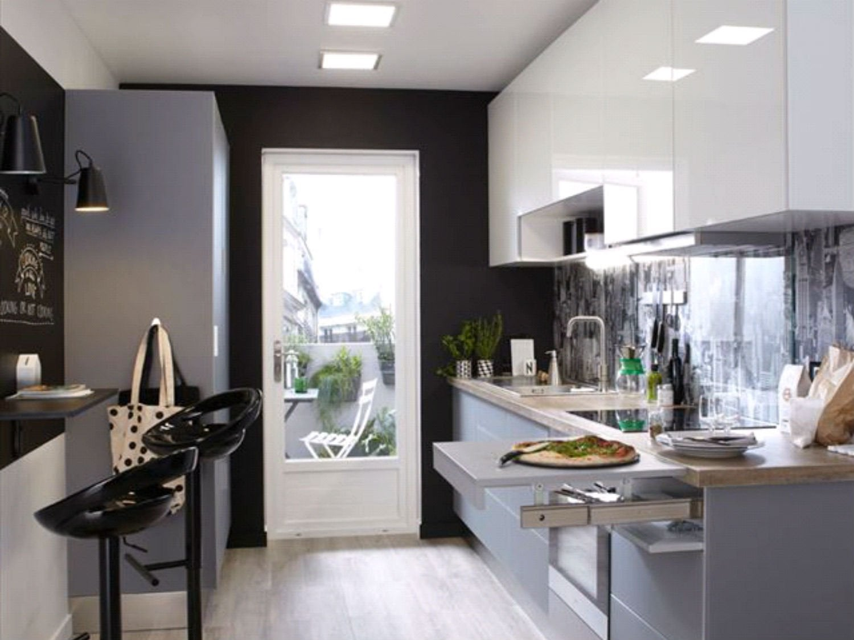 Une cuisine ouverte sur le s jour de 10 m leroy merlin - Comment amenager sa cuisine ouverte ...