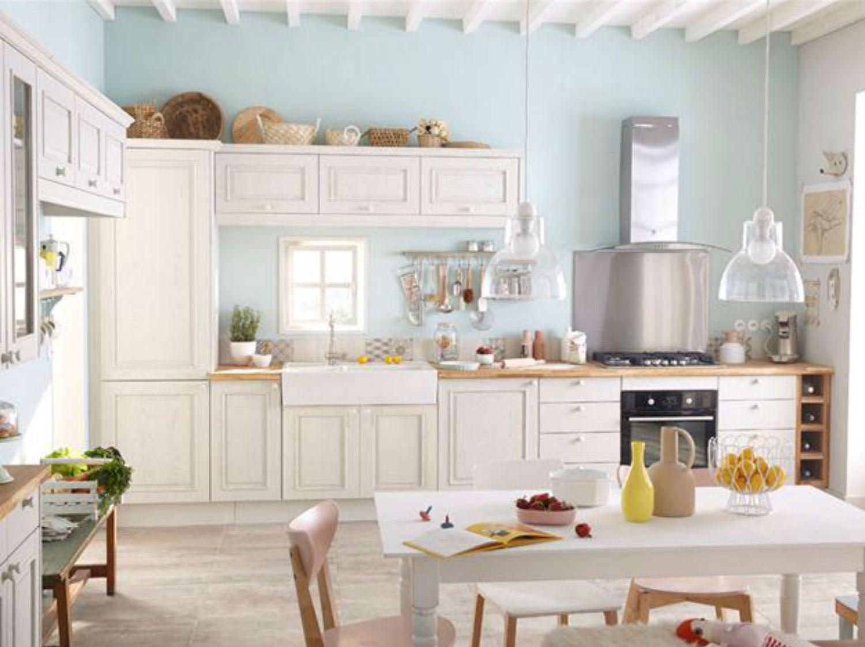 Une cuisine pleine de charme leroy merlin - Cuisine en kit leroy merlin ...