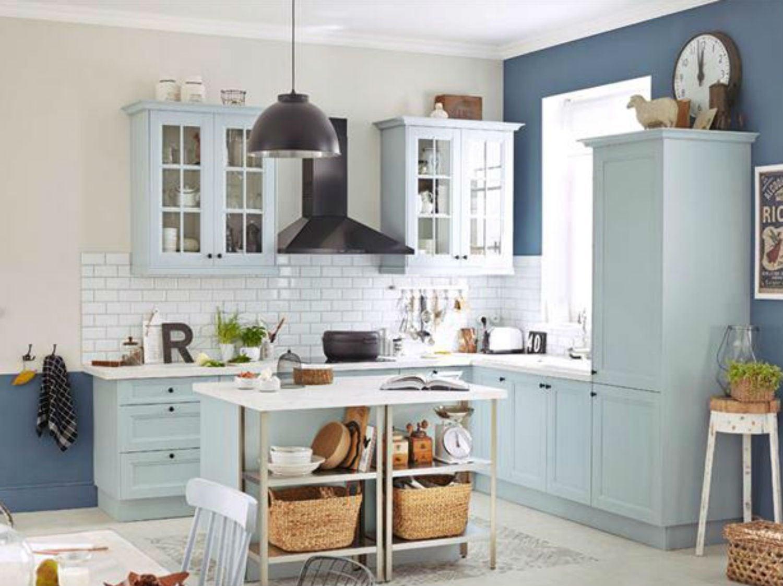 Une cuisine mixant couleurs et mati res leroy merlin - Installer credence cuisine ...