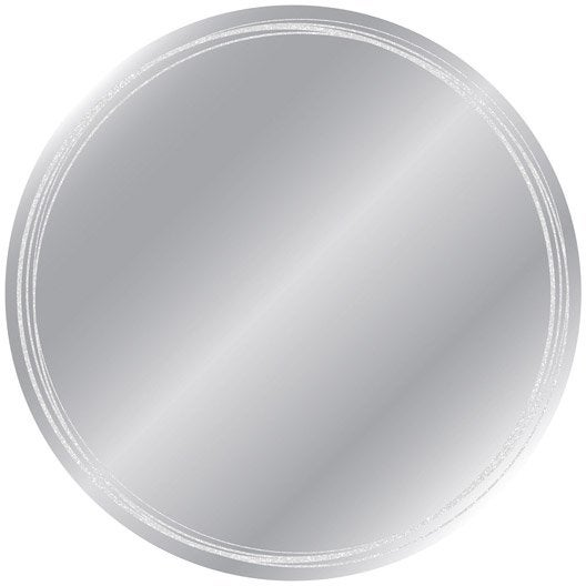 Miroir circles x cm leroy merlin for Miroir largeur 50 cm