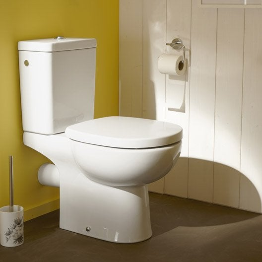 Wc poser wc abattant et lave mains toilette leroy merlin Wc a poser sortie horizontale