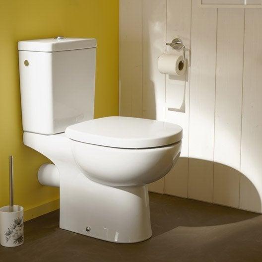 wc poser ideal standard idealsoft sans bride sortie horizontale leroy merlin. Black Bedroom Furniture Sets. Home Design Ideas