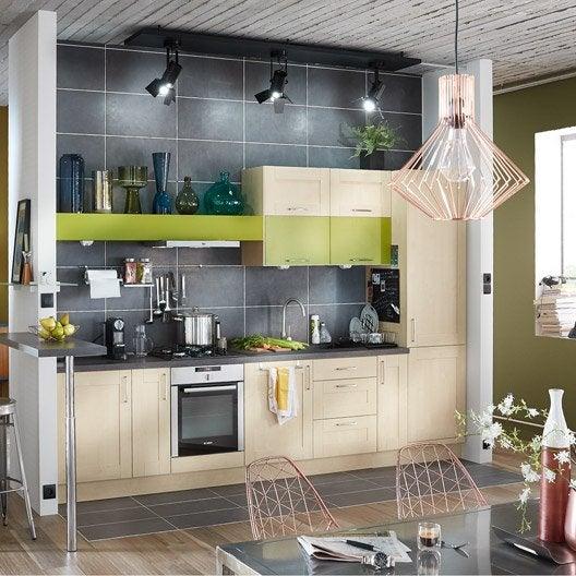 Meuble de cuisine blanc delinia ines leroy merlin for Meuble blanc de cuisine