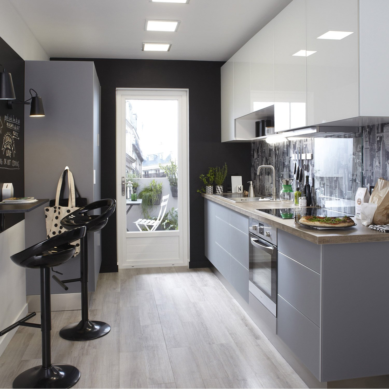meuble de cuisine blanc delinia everest - Cuisine Meuble Blanc