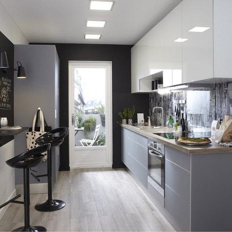 meuble de cuisine delinia cuisine quip e am nag e modulable moderne bois design ilot. Black Bedroom Furniture Sets. Home Design Ideas