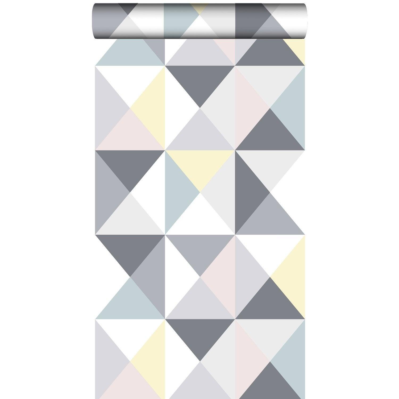 papier peint papier polygone multicouleur leroy merlin. Black Bedroom Furniture Sets. Home Design Ideas