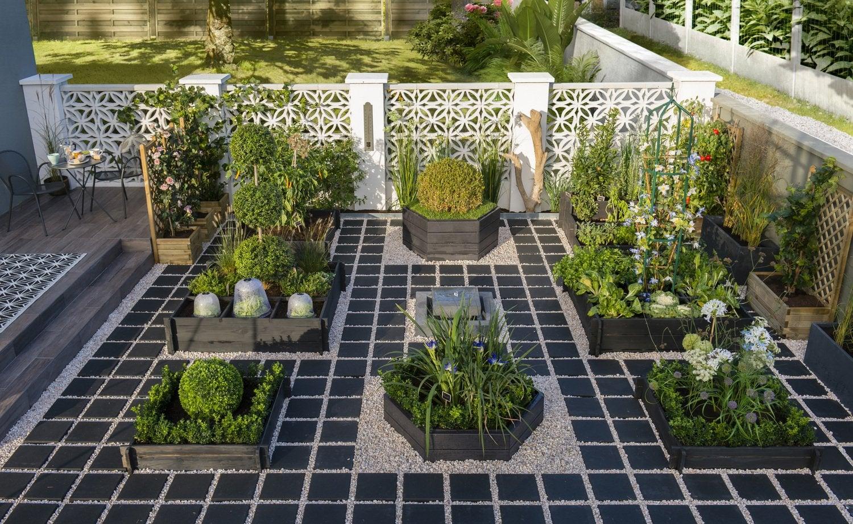 un potager en escalier au coeur de votre jardin leroy merlin. Black Bedroom Furniture Sets. Home Design Ideas
