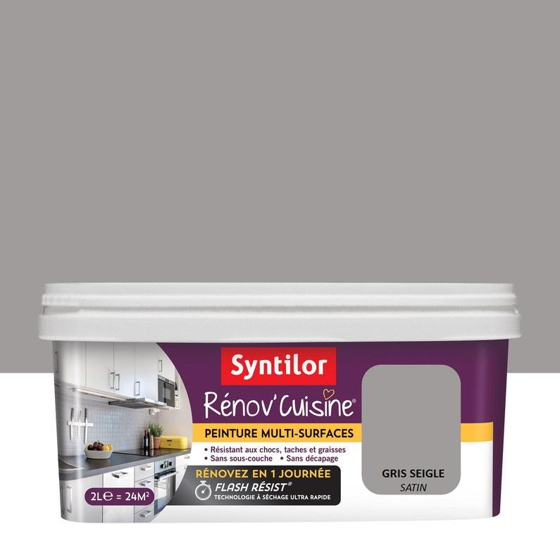 Peinture Cuisine Meubles Credences Syntilor Gris Seigle 2 L