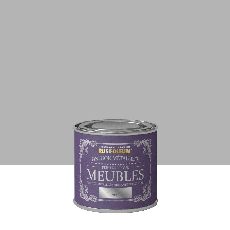 peinture pour meuble objet et porte poudr rustoleum argent l leroy merlin. Black Bedroom Furniture Sets. Home Design Ideas